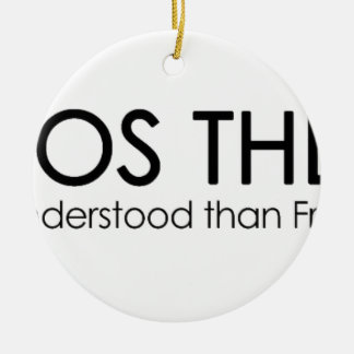 ChaosTheory Double-Sided Ceramic Round Christmas Ornament