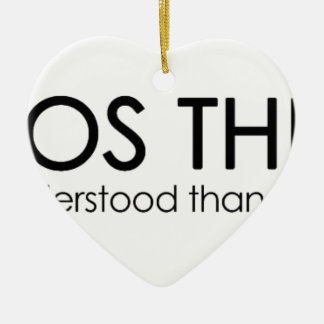 ChaosTheory Double-Sided Heart Ceramic Christmas Ornament