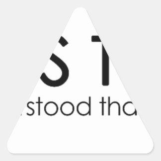 ChaosTheory Triangle Sticker