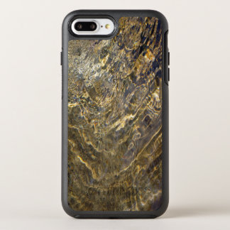 Chaotic Abstract Golden Fountain Water OtterBox Symmetry iPhone 7 Plus Case