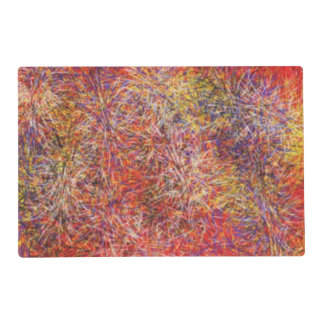 Chaotic abstract multicolored pattern placemat