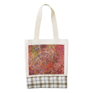 Chaotic abstract multicolored pattern zazzle HEART tote bag