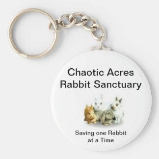 Chaotic Acres Rabbit Sanctuary Basic Round Button Keychain