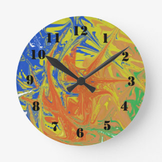 Chaotic and ugly pattern round clock