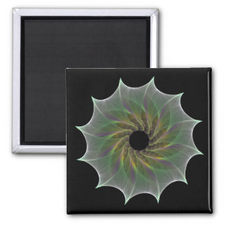 chaotic attraction fractal spiral circle 2 inch square magnet
