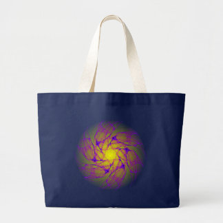 chaotic attractor vortices whirlpool large tote bag