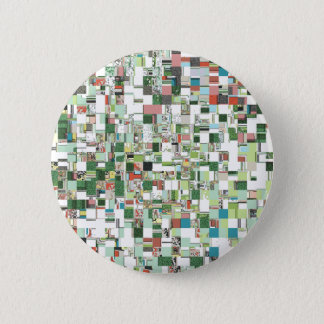 Chaotic Clusters of Green Pinback Button