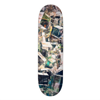 Chaotic Collection of Cubes Skateboard Deck