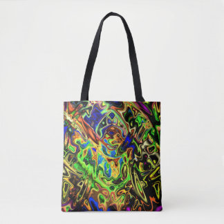 Chaotic Colorful Curves Tote Bag