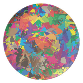 chaotic colors dinner plate