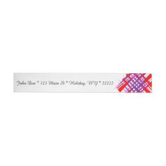 Chaotic Hash Tag Wrap Around Address Label