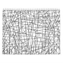 Chaotic lines calendar