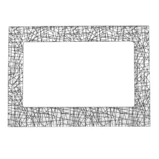 Chaotic lines magnetic photo frame