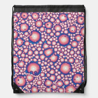 Chaotic Macro Abstract Drawstring Bag