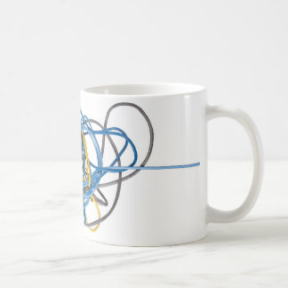 Chaotic network coffee mug