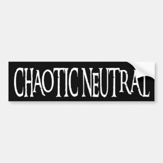 """Chaotic Neutral"" Bumper Sticker"