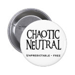 """Chaotic Neutral"" Pinback Buttons"