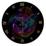 Chaotic Rainbow Wall Clock