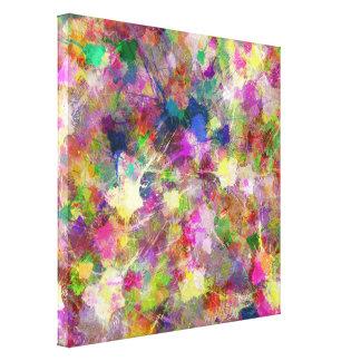 Chaotic Spots of Paint Canvas Print
