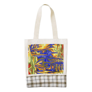 Chaotic ugly pattern zazzle HEART tote bag