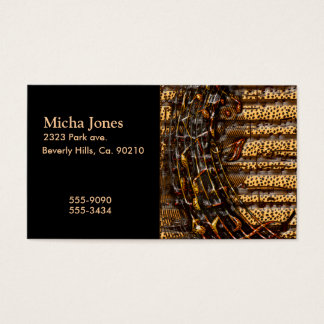Chaotic Whirl Of Tiger & Cheetah Music Notes Business Card