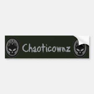 ChaoticOwnz Bumper sticker