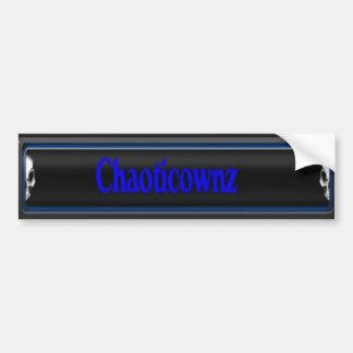 ChaoticOwnz Bumper Sticker (ns)