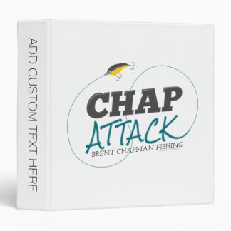 Chap Attack with Fishing Lure - Brent Chapman 3 Ring Binder
