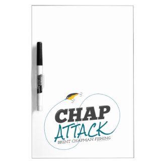 Chap Attack with Fishing Lure - Brent Chapman Dry Erase Whiteboard