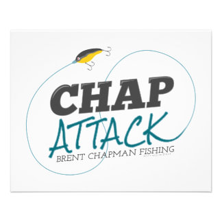Chap Attack with Fishing Lure - Brent Chapman Flyers
