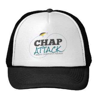 Chap Attack with Fishing Lure - Brent Chapman Trucker Hat
