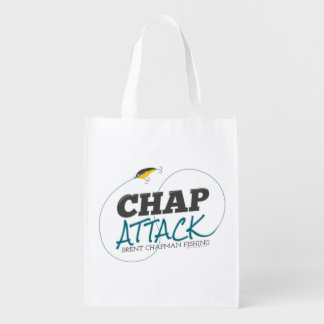 Chap Attack with Fishing Lure - Brent Chapman Market Totes