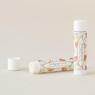 Chap Stick Thank You Baby Shower Favours Autumn Lip Balm