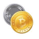 Chapa Bitcoin - M1 Pin Redondo 2,5 Cm