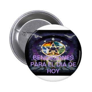 Chapa De La Suerte 2Coleccion Bendicion Wicca Botón
