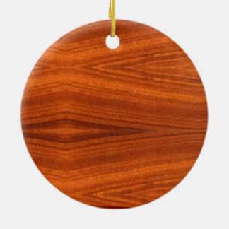 Chapa de madera fina de la caoba de la teca del adorno redondo de cerámica