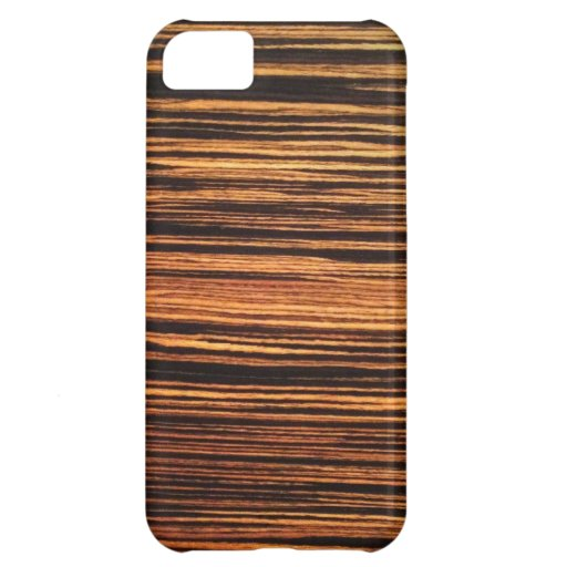 Chapa de madera oscura funda para iPhone 5C