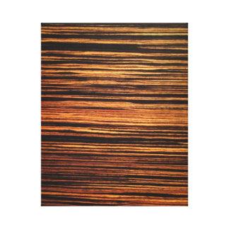 Chapa de madera oscura lona envuelta para galerías