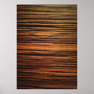 Chapa de madera oscura póster