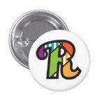 Chapa Inicial R (letter R ) de jrf.a Pin Redondo De 1 Pulgada
