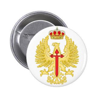 Chapa pin. Emblema Ejército de Tierra Español. Pin Redondo De 2 Pulgadas