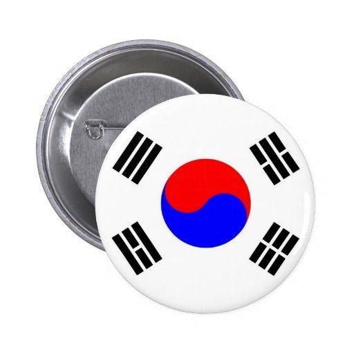 chapa taegukgi pin redondo 5 cm