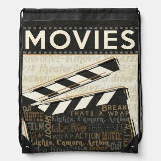 Chapaleta de la película del vintage mochila