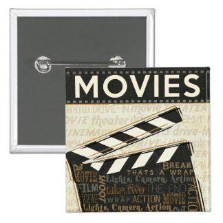 Chapaleta de la película del vintage pin cuadrado