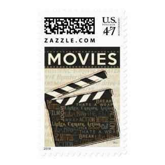 Chapaleta de la película del vintage timbre postal