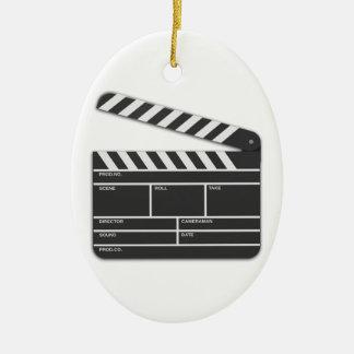 Chapaleta-Tablero tradicional de la película Adorno Navideño Ovalado De Cerámica