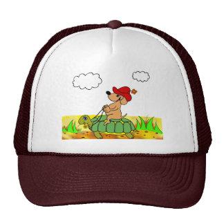 chapeau drôles chien et tortue casquette de camionneur