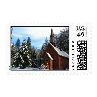 chapel and tree stamps
