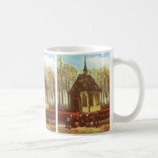 Chapel at Nuenen, Churchgoers by Vincent van Gogh Coffee Mug