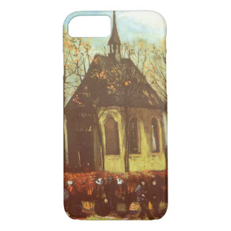 Chapel at Nuenen, Churchgoers by Vincent van Gogh iPhone 7 Case